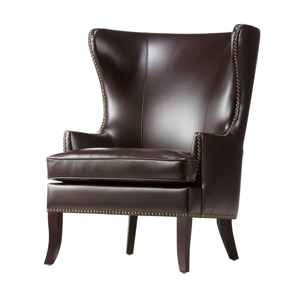 Home Decorators Collection Moore Havana Brown Wing Back A...