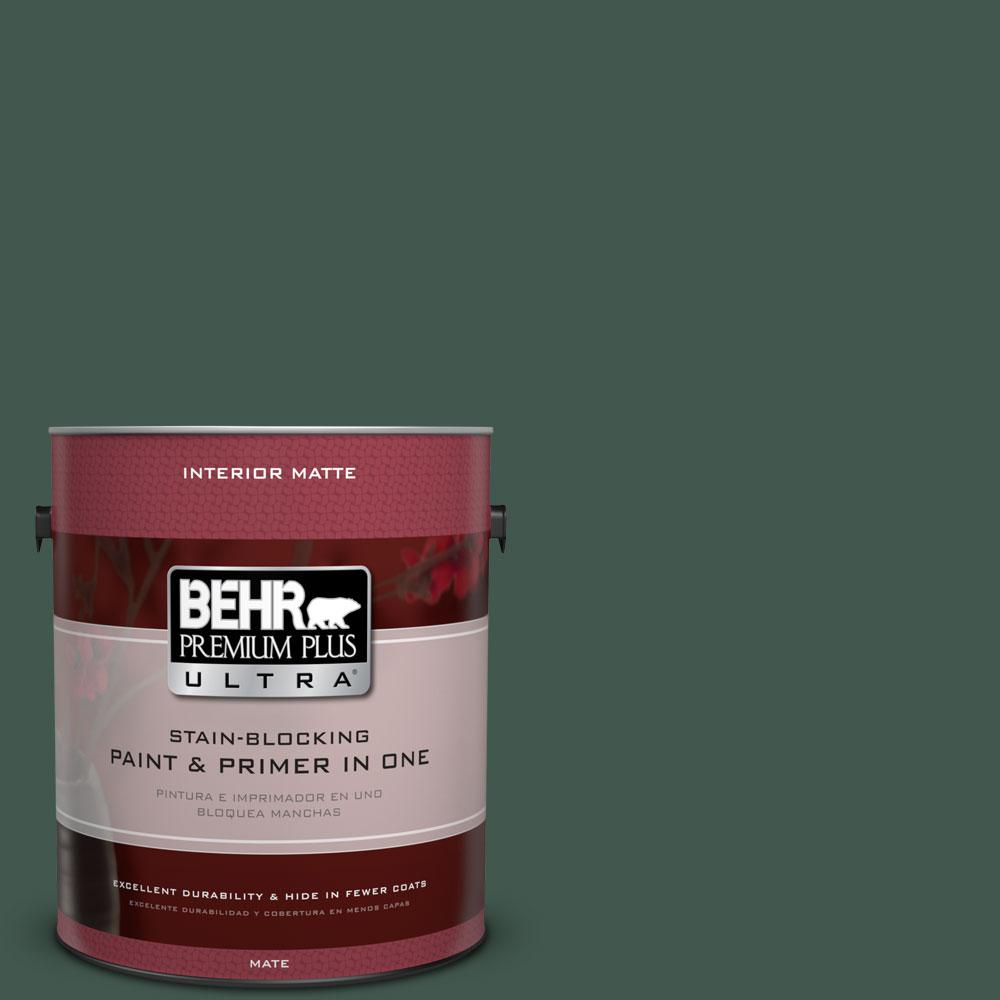 1 gal. #BXC-33 Jolly Green Matte Interior Paint