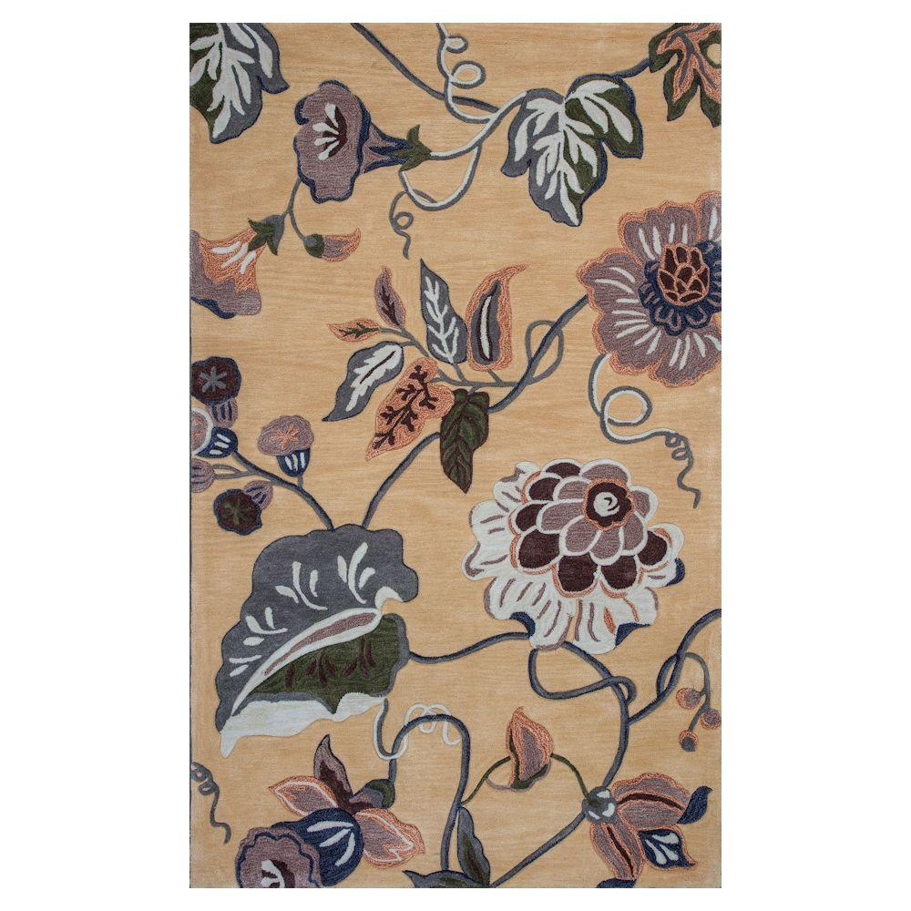 Kas Rugs Fall Scapes Gold 8 ft. x 10 ft. 6
