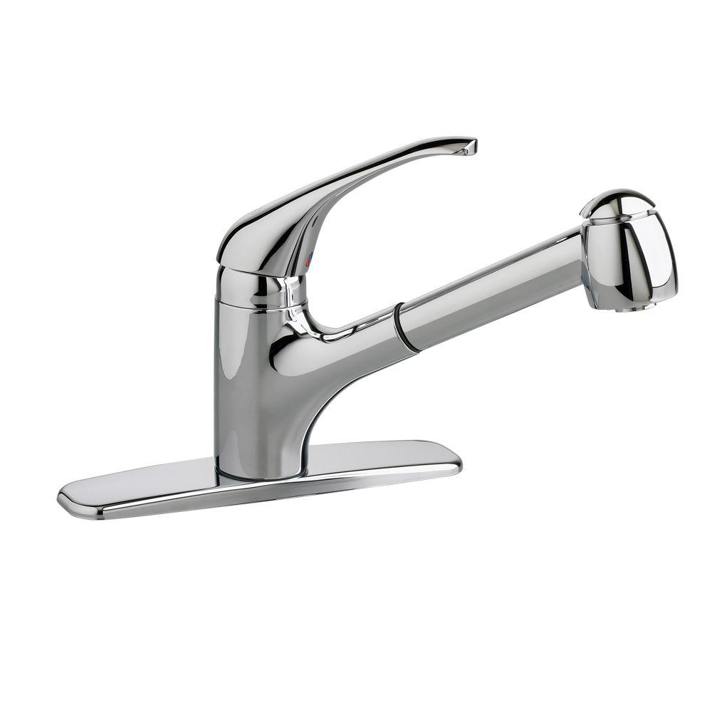 American Standard Reliant+ Single-Handle Pull-Out Sprayer Kitchen Faucet in Polished Chrome