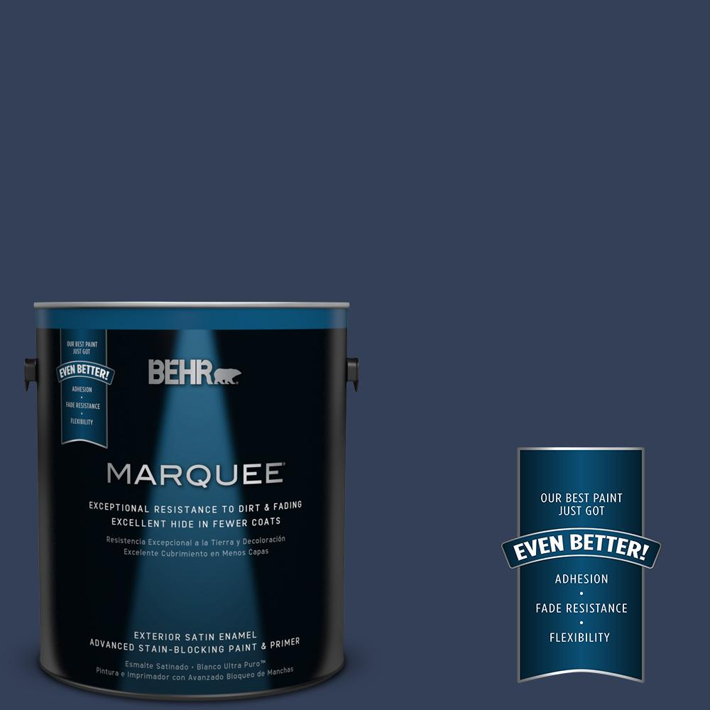 1-gal. #600F-7 Soulful Music Satin Enamel Exterior Paint