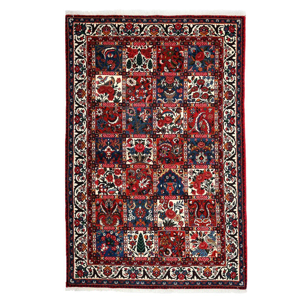 Darya Rugs Authentic Red 4 ft. 6 in. x 6 ft. 9 in. Indoor Area Rug