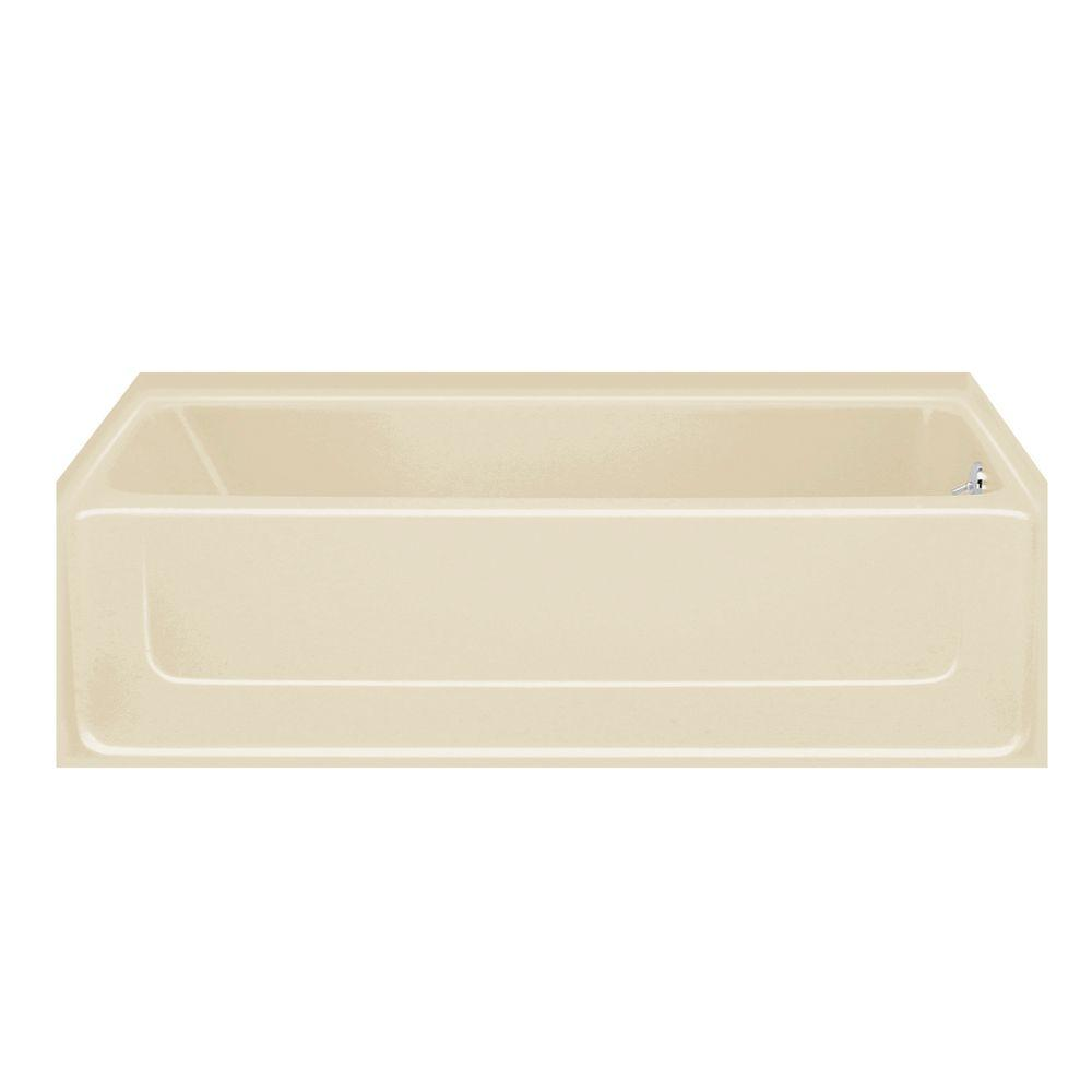 STERLING All Pro 5 ft. Right Drain Bathtub in Almond-DISCONTINUED
