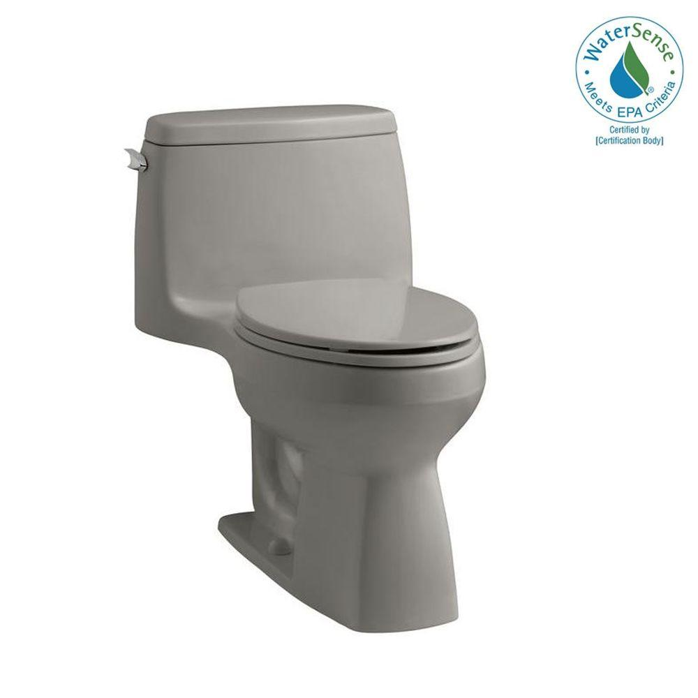 KOHLER Santa Rosa Comfort Height 1piece 1.28 GPF Compact Elongated Toilet AquaPiston Flush Technology in Cashmere-DISCONTINUED