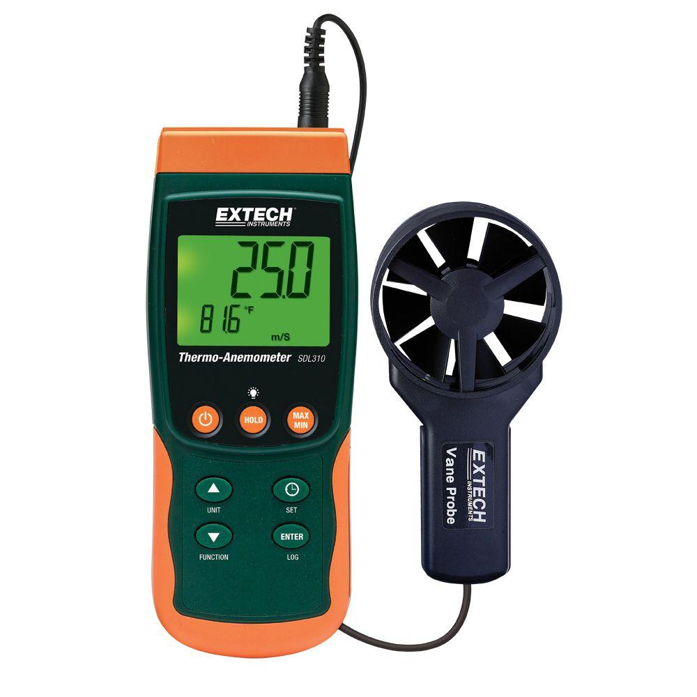 Vane Thermo-Anemometer SD Logger