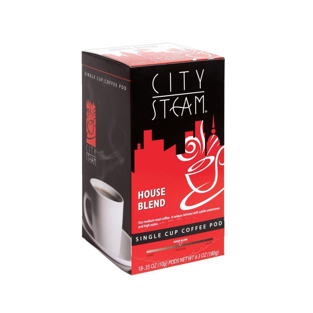 City Steam House Blend Single Cup Coffee Pods, 18-count-DISCONTINUED