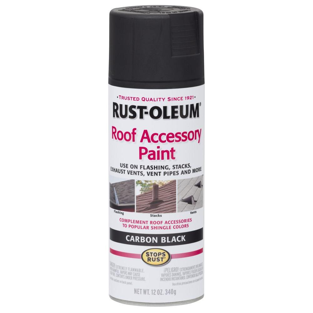Rust-Oleum Stops Rust 12 oz. Carbon Black Roof Accessory Spray Paint