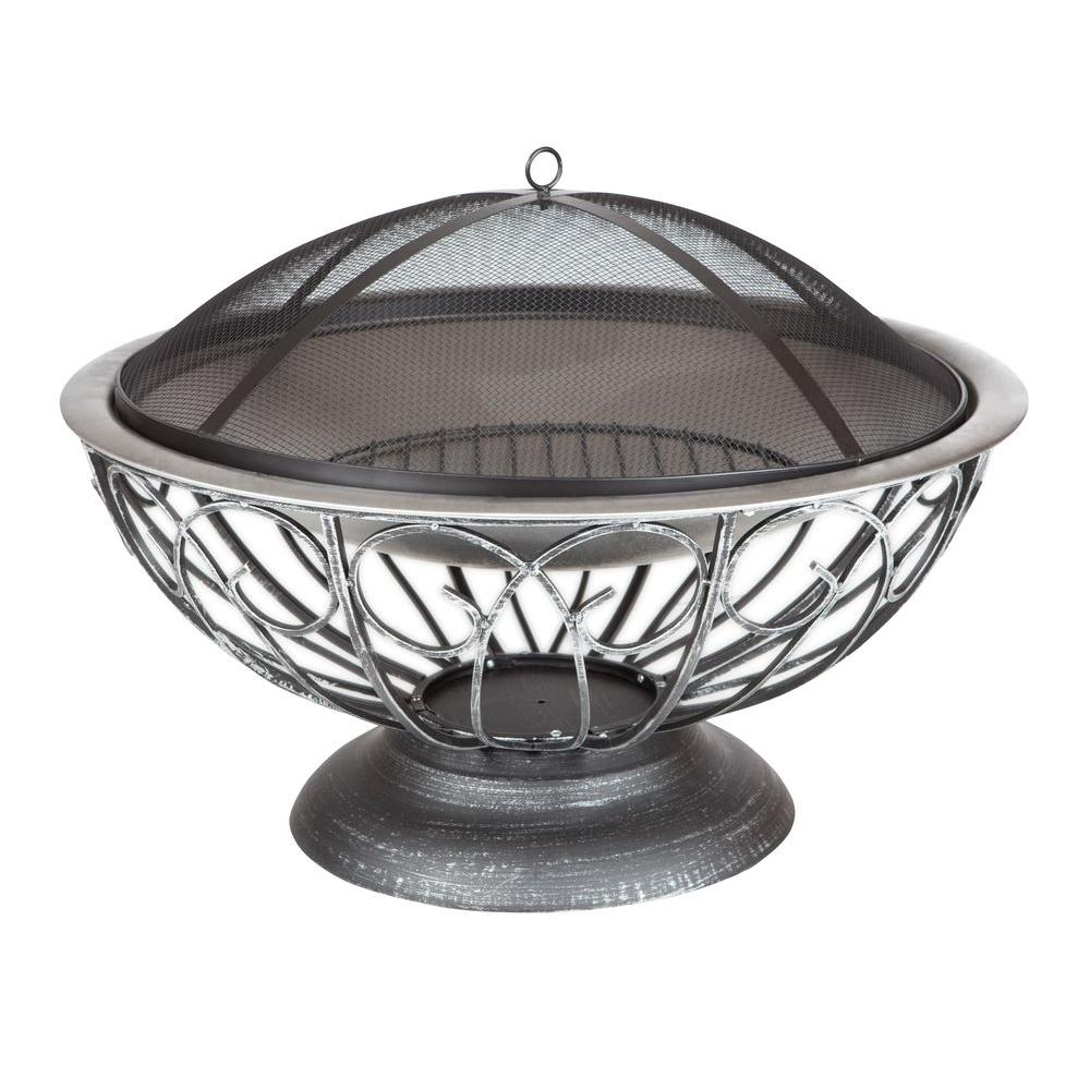 Fire Sense 29 in. Stainless Steel (Silver) Urn Fire Pit ShopFest Money Saver