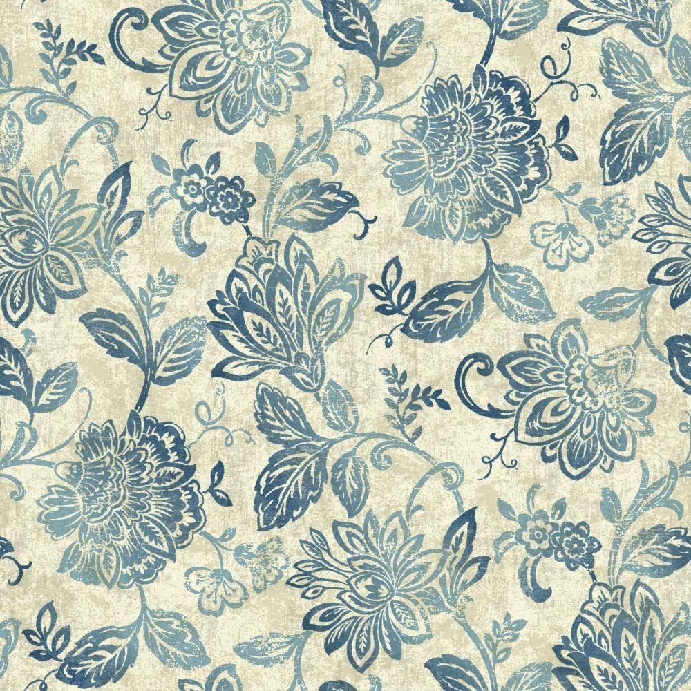 York Wallcoverings 56 sq. ft. Nautical Living Lillian Wallpaper-NY4861 - The