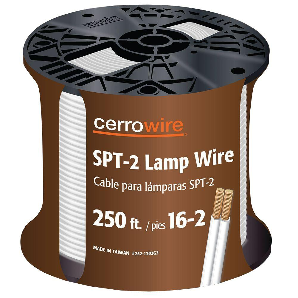 Cerrowire 250 ft. 16/2 White Stranded Lamp Cord