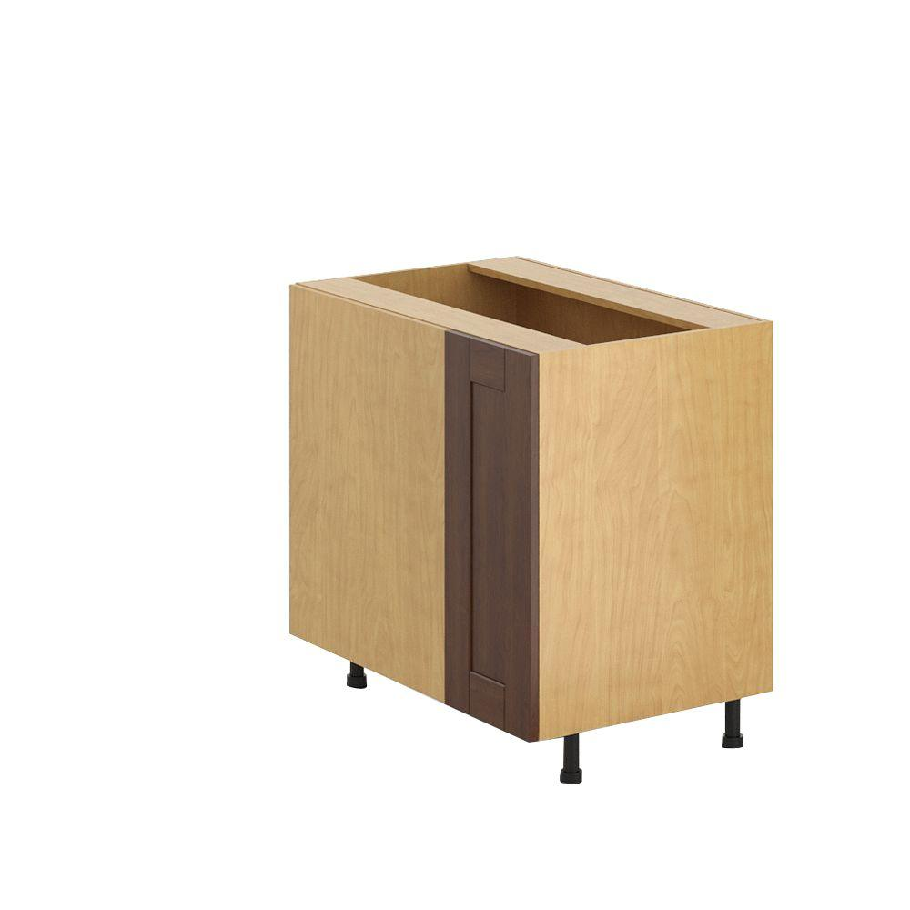 36x34.5x24.5 in. Lyon Blind Corner Base Cabinet with 1/2 Lazy Susan