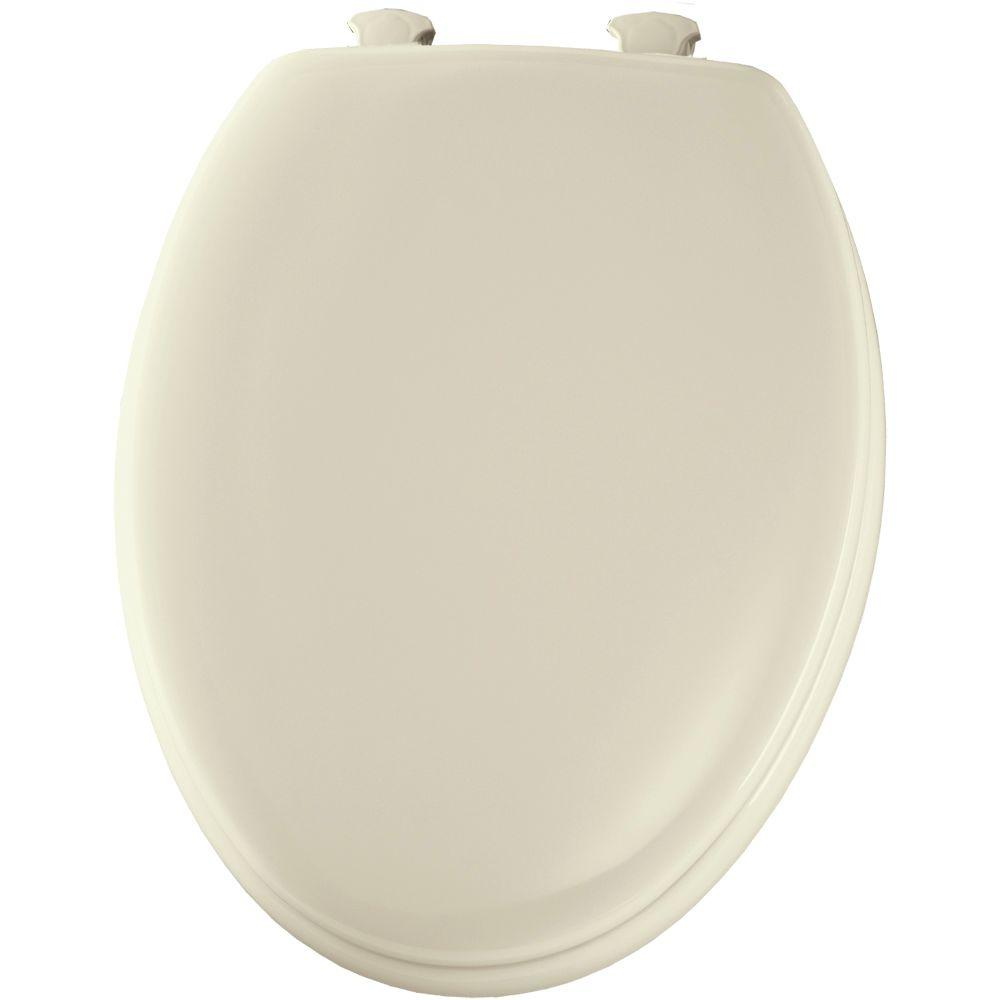 BEMIS Lift-Off Elongated Closed Front Toilet Seat in Bone