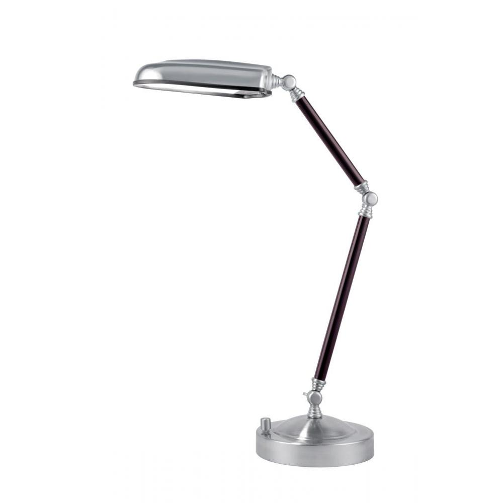 26 in. Polished Steel Swing Arm Desk Lamp