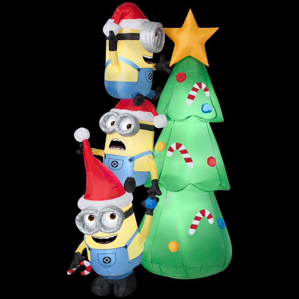 upc 086786382929 product image for gemmy ss38292g airblown minions decorate tree scene upcitemdbcom