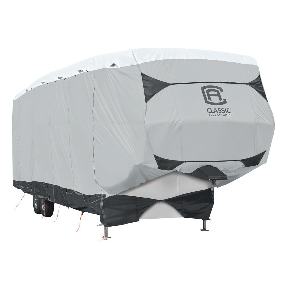 Skyshield 402 in. L x 105 in. W x 121 in. H 5th Wheel Cover, Black/Grey And Snow White