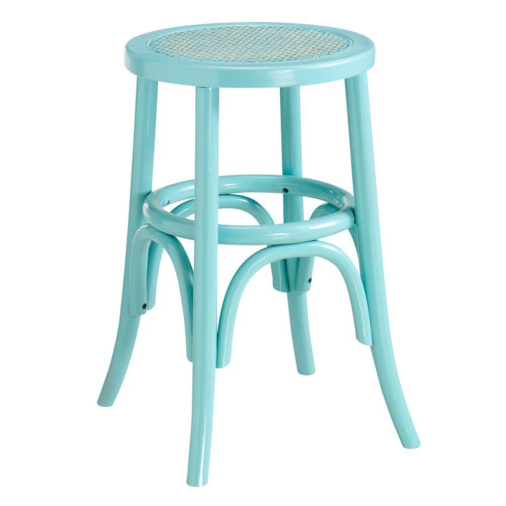 Home Decorators Collection 15.25 in. W Hamilton Sunken Pool Bentwood Low Stool