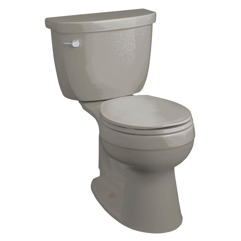 KOHLER Cimarron Comfort Height 2-Piece 1.6 GPF Round Front Toilet in Ice Gray-DISCONTINUED