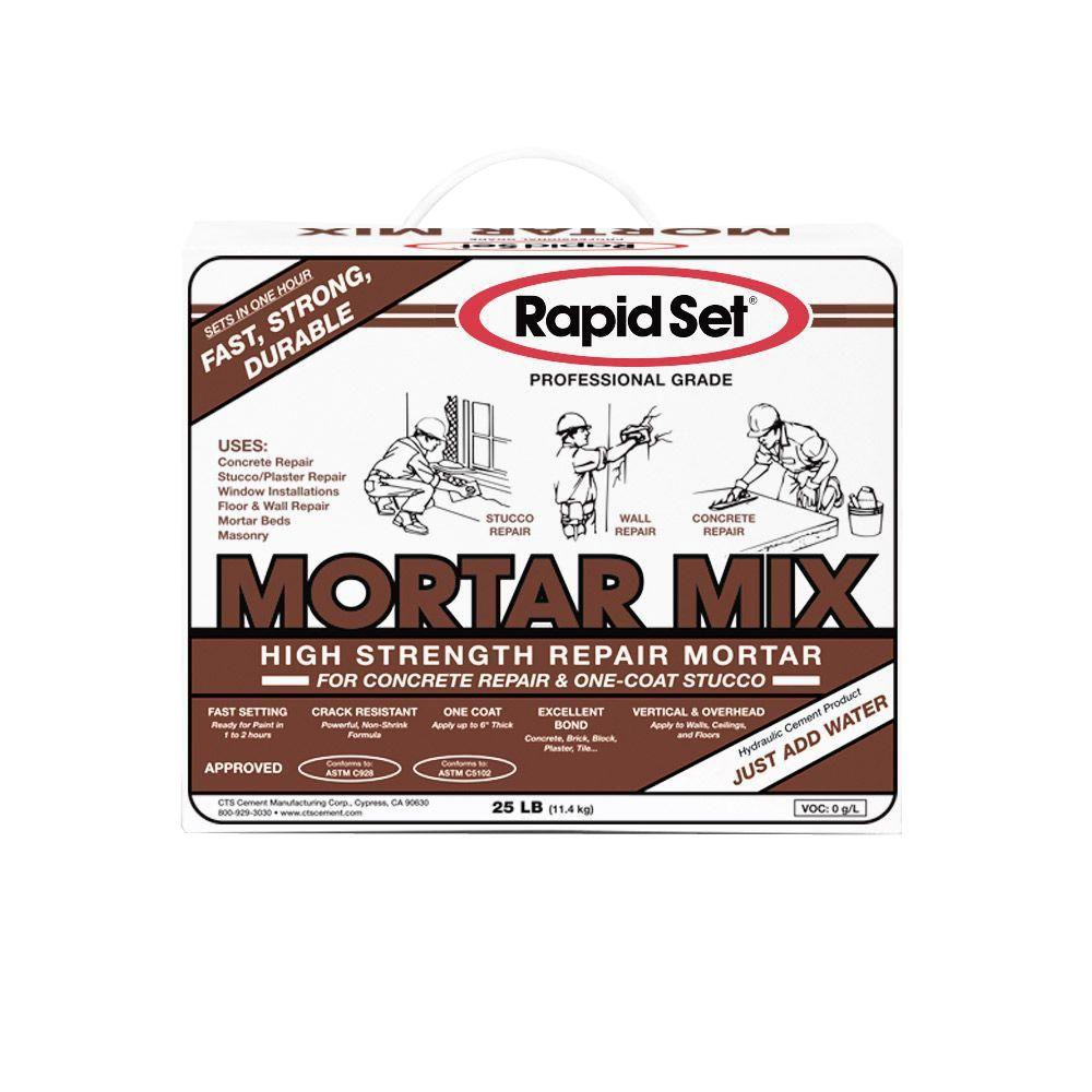 Rapid Set 25 lb. Mortar Mix