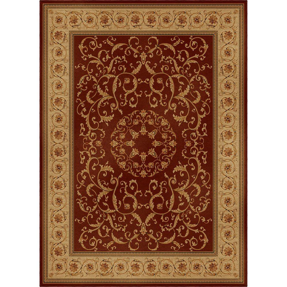 Orian Rugs Rochester Spanish Red 7 ft. 10 in. x 10 ft. 10 in. Area Rug