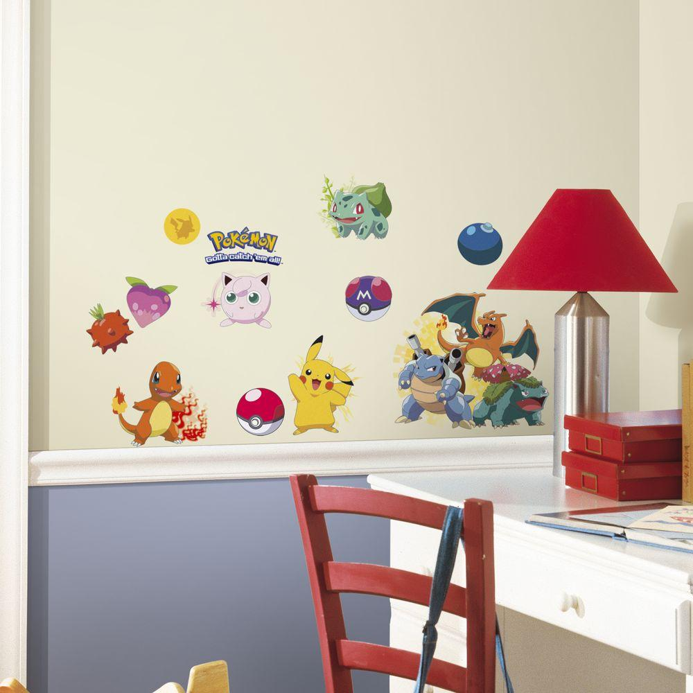 Roommates Wall Stickers : Roommates in pokemon iconic peel and stick