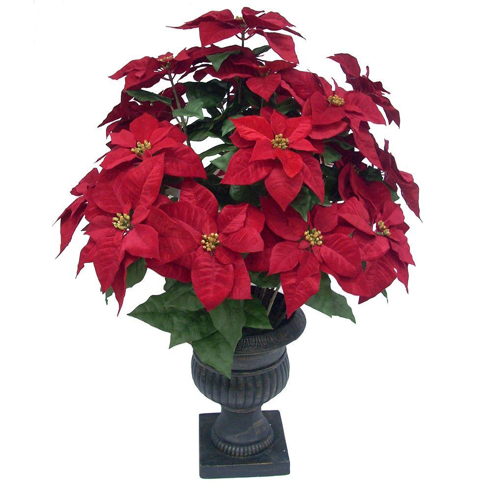 Home Accents Holiday 36 in. Red Poinsettia in Pot