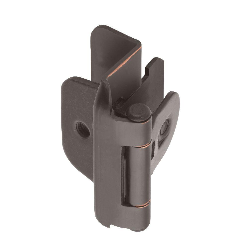 1/2 in. Oil-Rubbed Bronze Double-Demountable Inset Hinge
