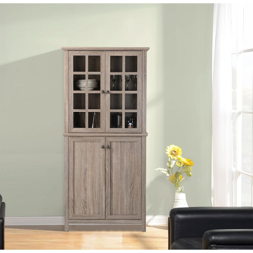 Kitchen China Cabinet: Reclaimed Wood China Cabinet-ZH141454