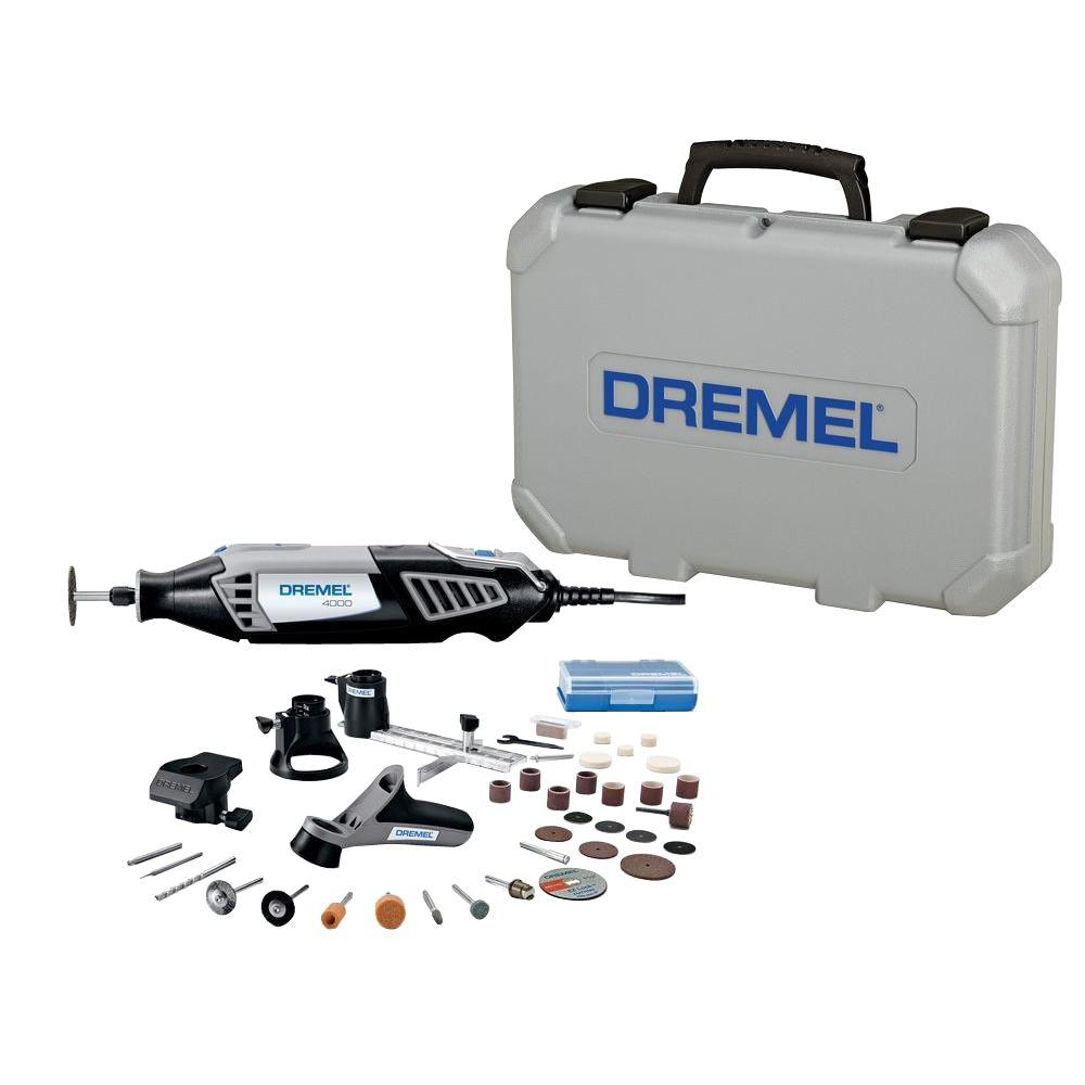 dremel 4000 series 1 6 amp corded variable speed rotary tool kit with 38 accessories and hard. Black Bedroom Furniture Sets. Home Design Ideas