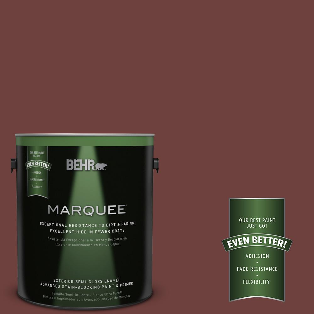 1-gal. #ICC-82 Library Red Semi-Gloss Enamel Exterior Paint