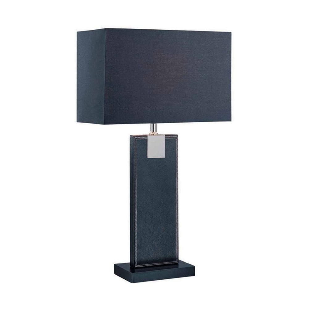 Designer Collection 24.5 in. Black Fluorescent Table Lamp