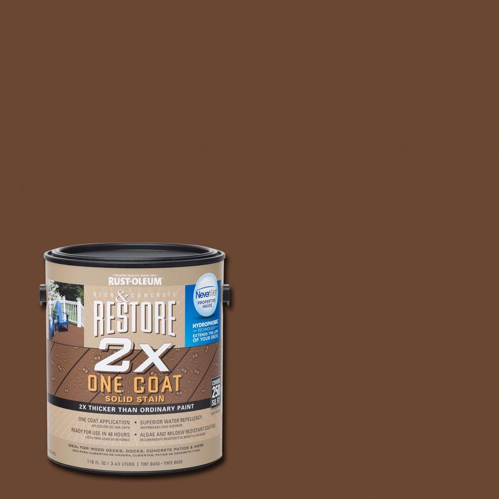 Rust-Oleum Restore 1 gal. 2X Russet Solid Deck Stain with NeverWet-291406