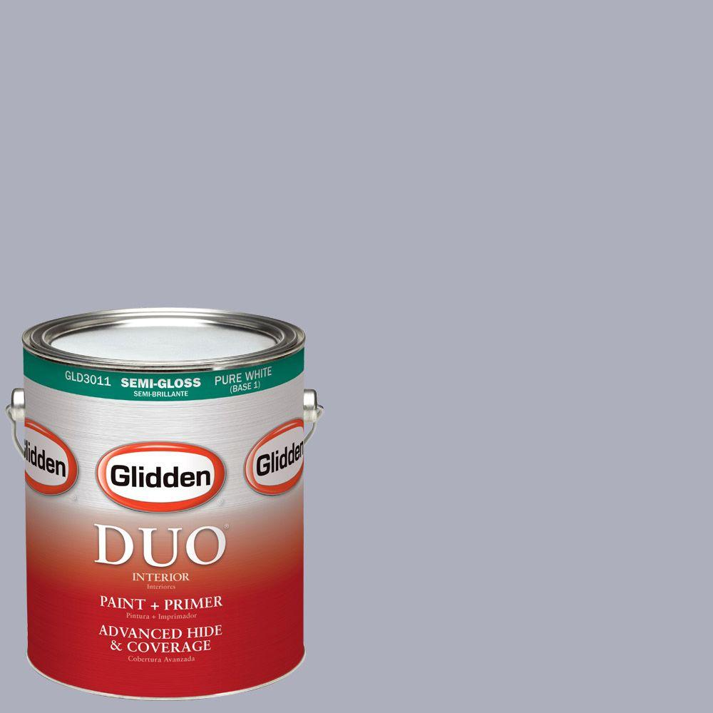 Glidden DUO 1-gal. #HDGV49D Morning Violet Semi-Gloss Latex Interior Paint with