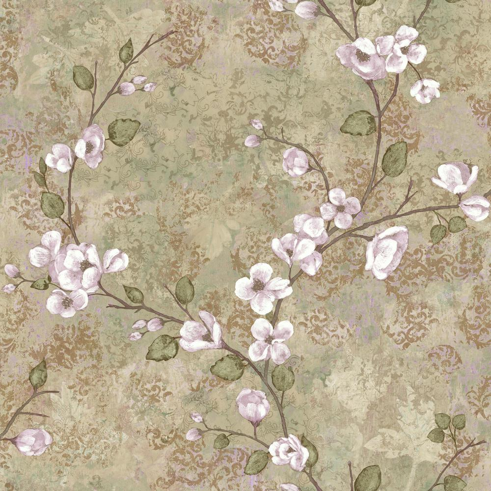 York Wallcoverings 56 sq. ft. Charlotte Dogwood Wallpaper-TB4313 - The Home