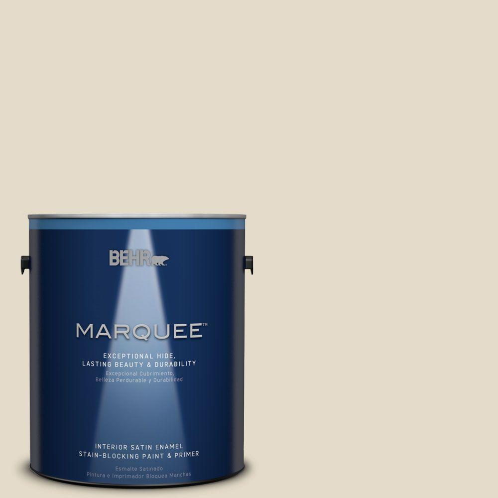 1 gal. #MQ3-17 Chartreuse Frost One-Coat Hide Satin Enamel Interior Paint
