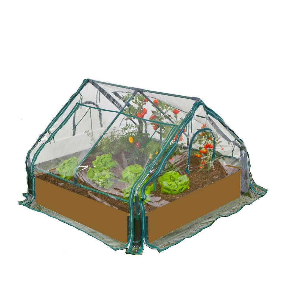Frame It All 4 ft. x 4 ft. x 36 in. Greenhouse