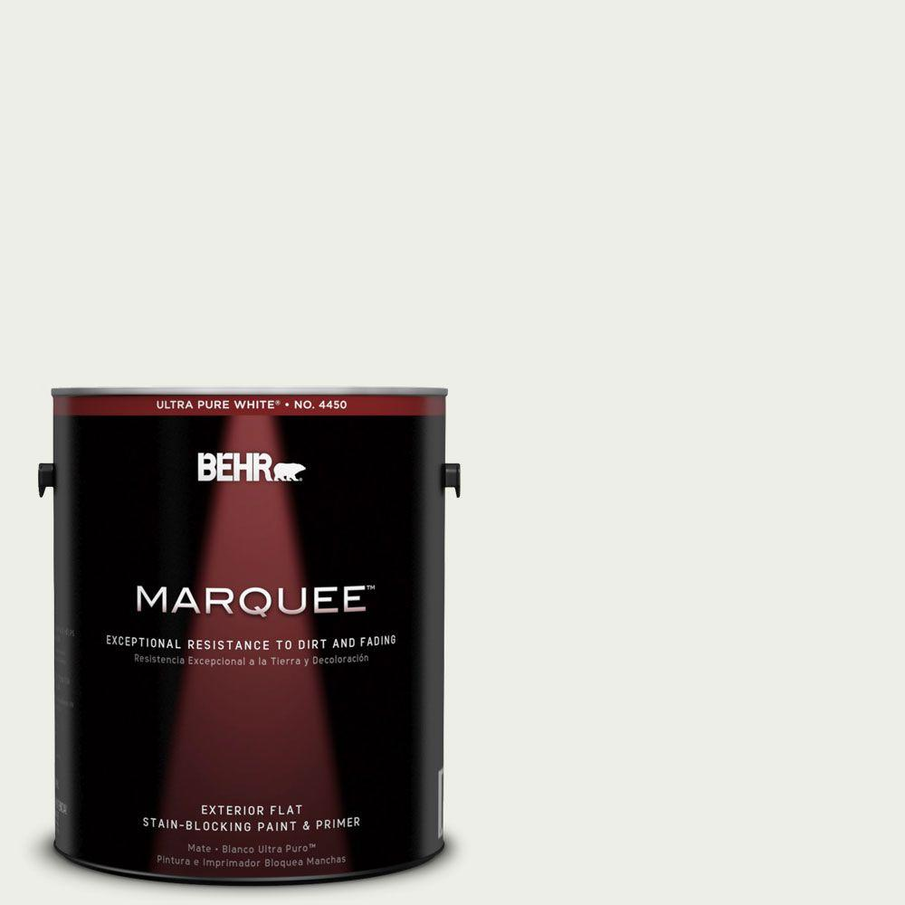 BEHR MARQUEE 1-gal. #410E-1 Frostwork Flat Exterior Paint-445001 - The Home