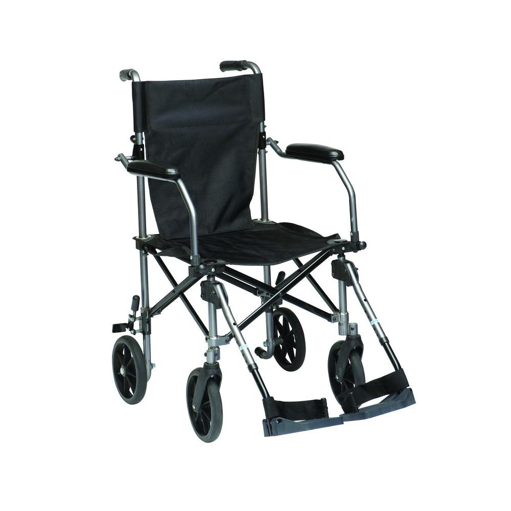 Drive Travelite Transport Wheelchair-tc005gy - The Home Depot