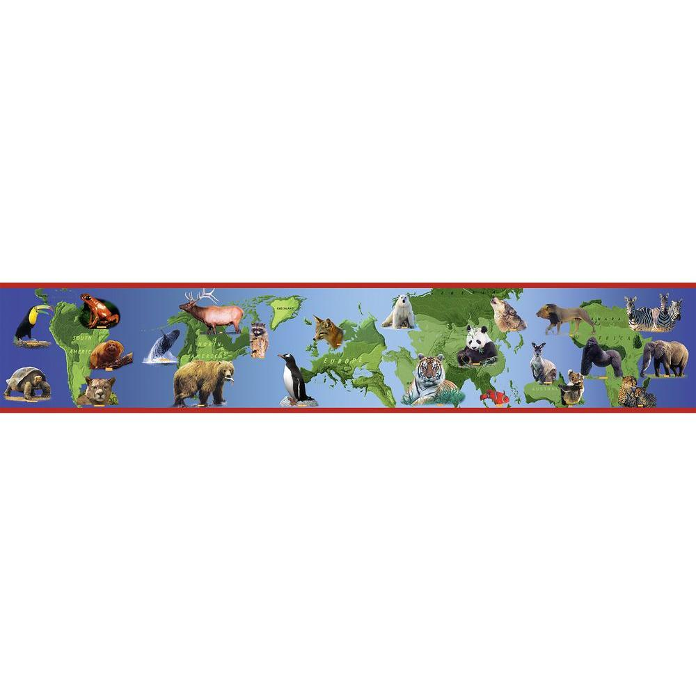 National Geographic 9 in. H x 12 in. W A World Of Animals Border Sample