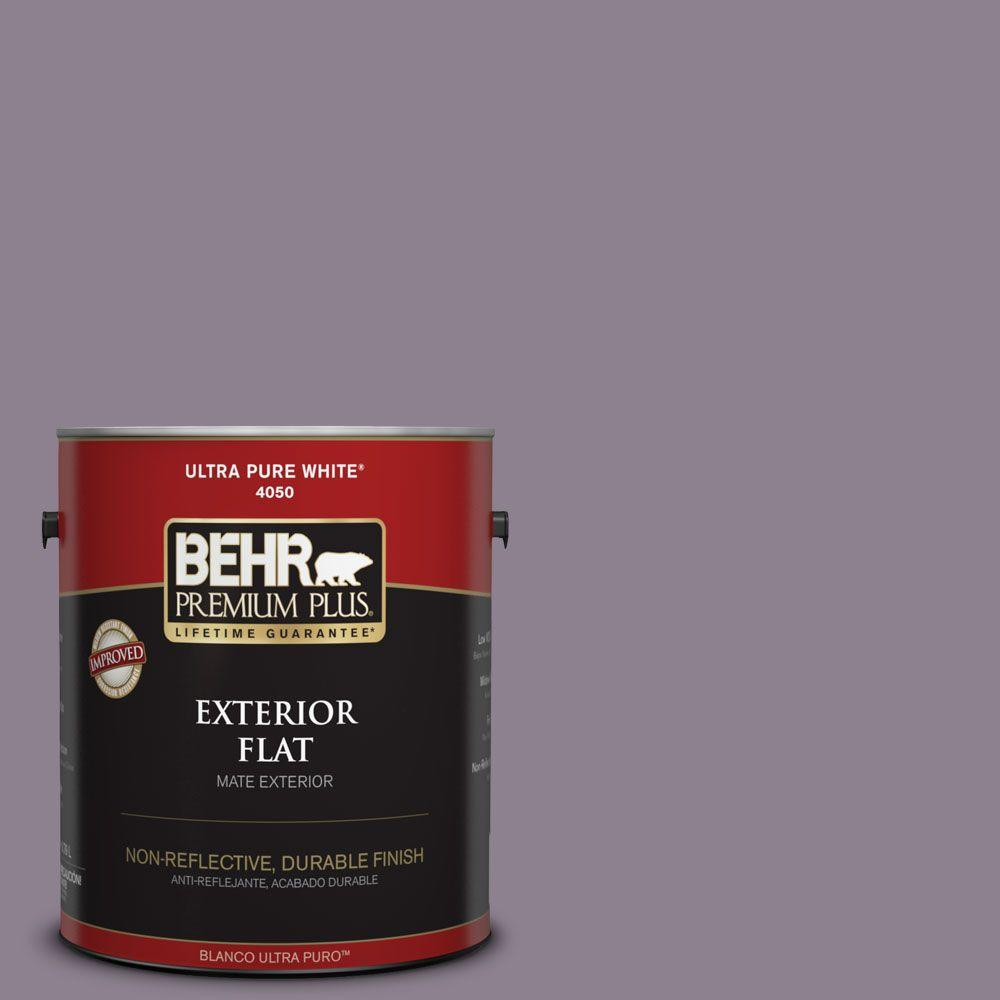 1-gal. #670F-5 Gothic Amethyst Flat Exterior Paint