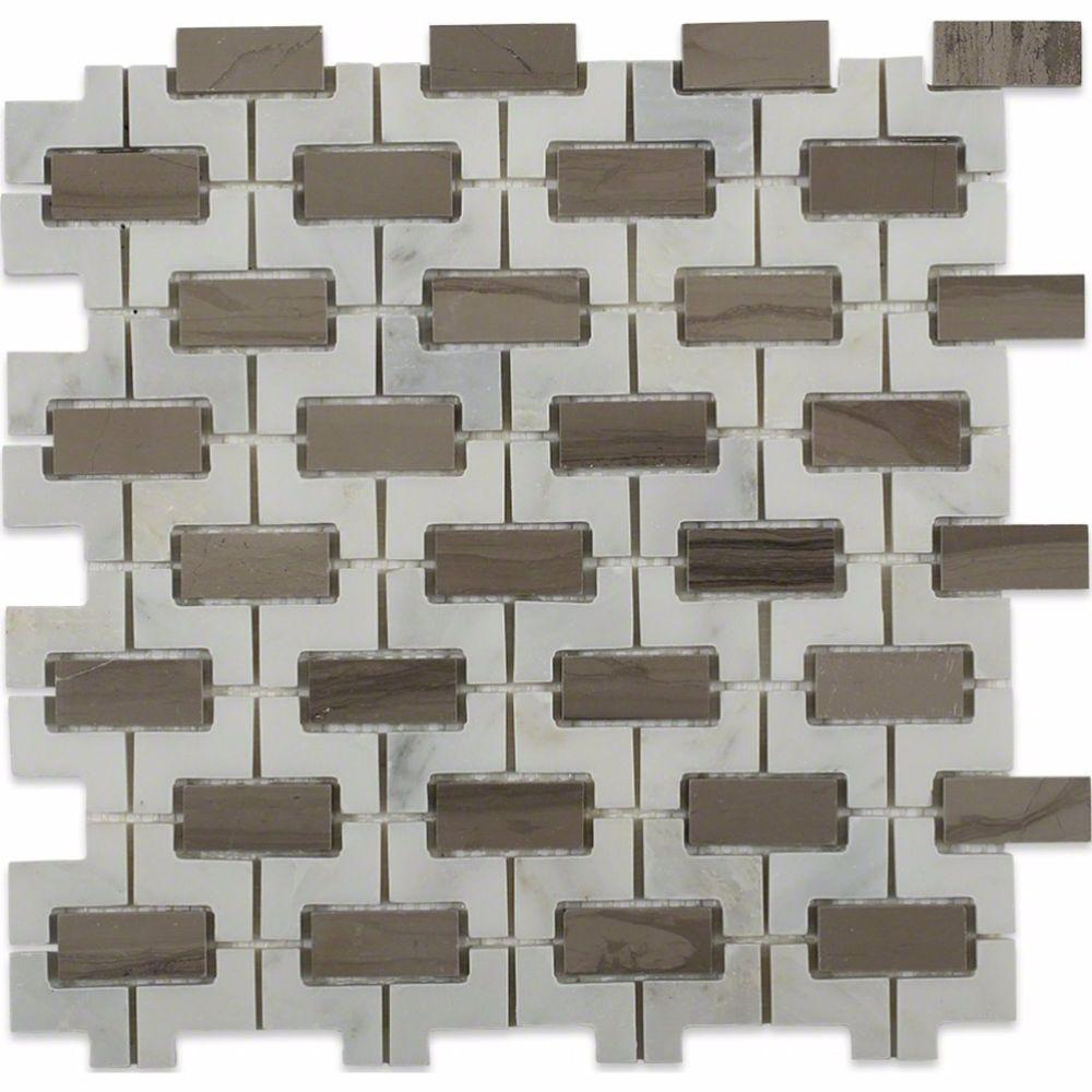 Rorschack Athens Gray and Oriental Polished Marble Floor and Wall Tile