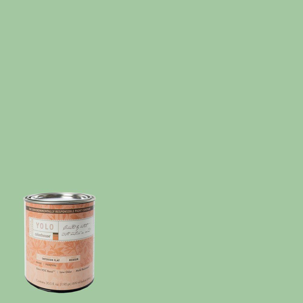 YOLO Colorhouse 1-Qt. Thrive .04 Flat Interior Paint-DISCONTINUED