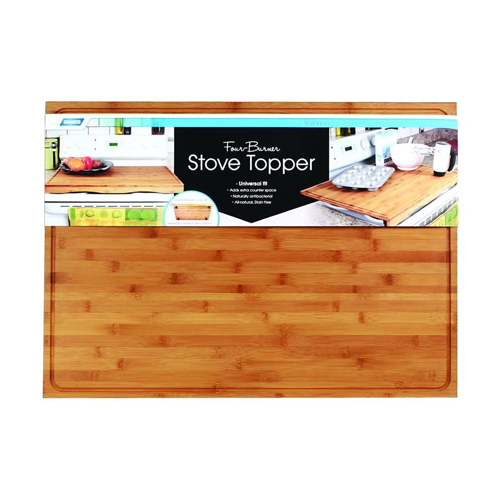 Bamboo 4-Burner Stove Top Work Surface