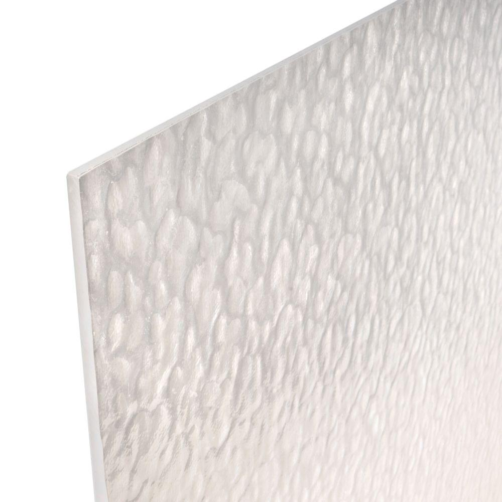null 48 in. x 96 in. x 1/4 in. Patterned Acrylic Sheet