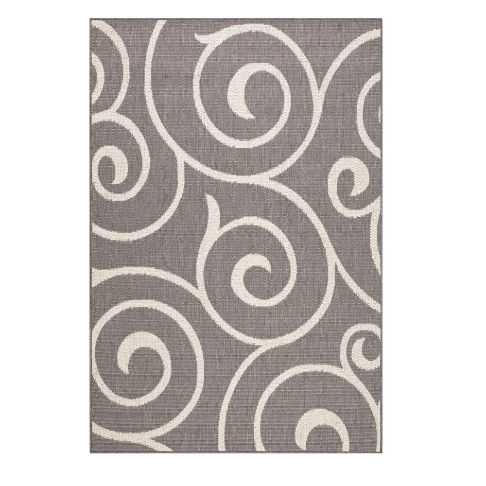 Whirl Grey/Champagne 8 ft. 6 in. x 13 ft. Area Rug