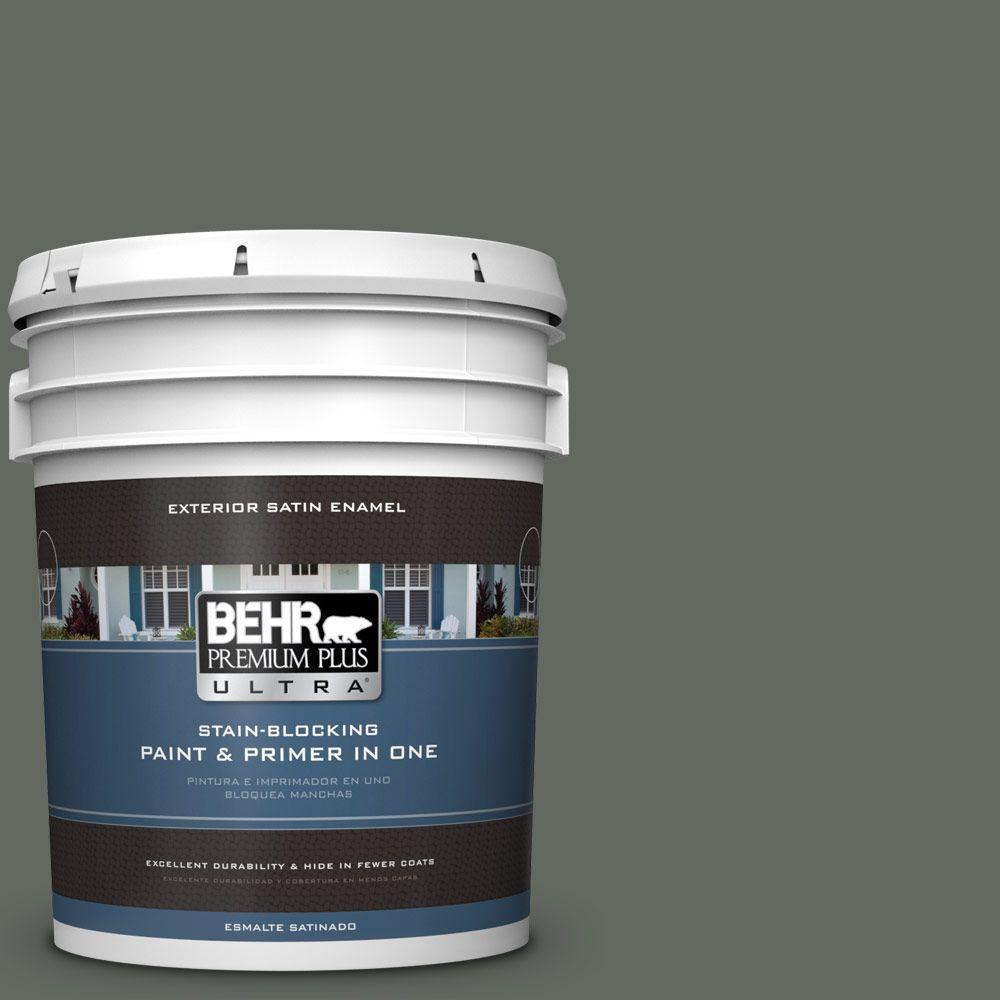 5-gal. #N410-6 Pinecone Hill Satin Enamel Exterior Paint