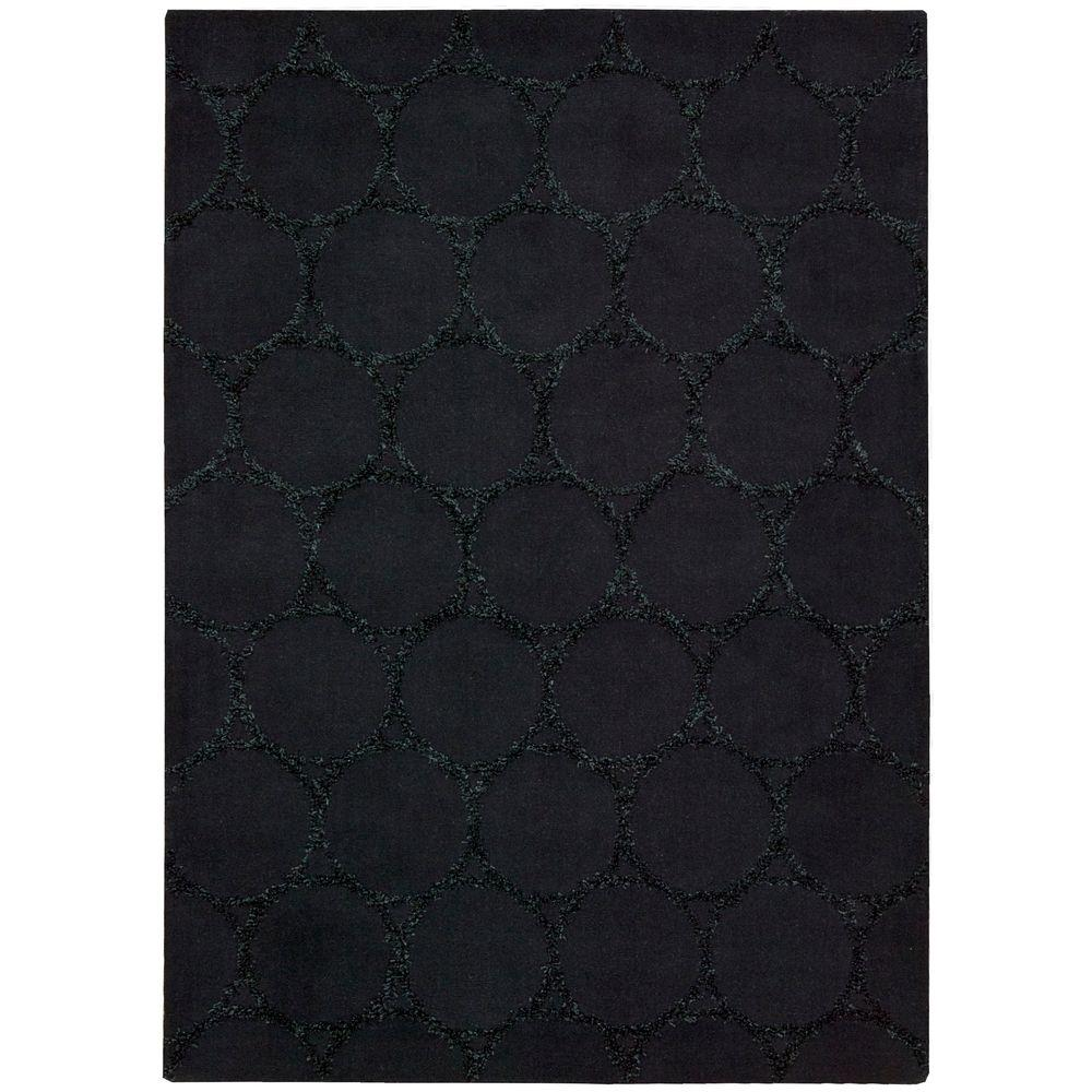 Nourison Overstock Monterey Charcoal 3 ft. 6 in. x 5 ft. 6 in. Area Rug