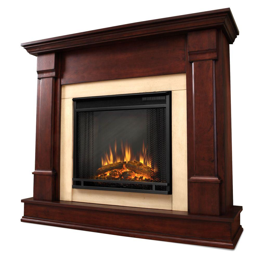 real flame chateau 41 in corner electric fireplace in dark walnut