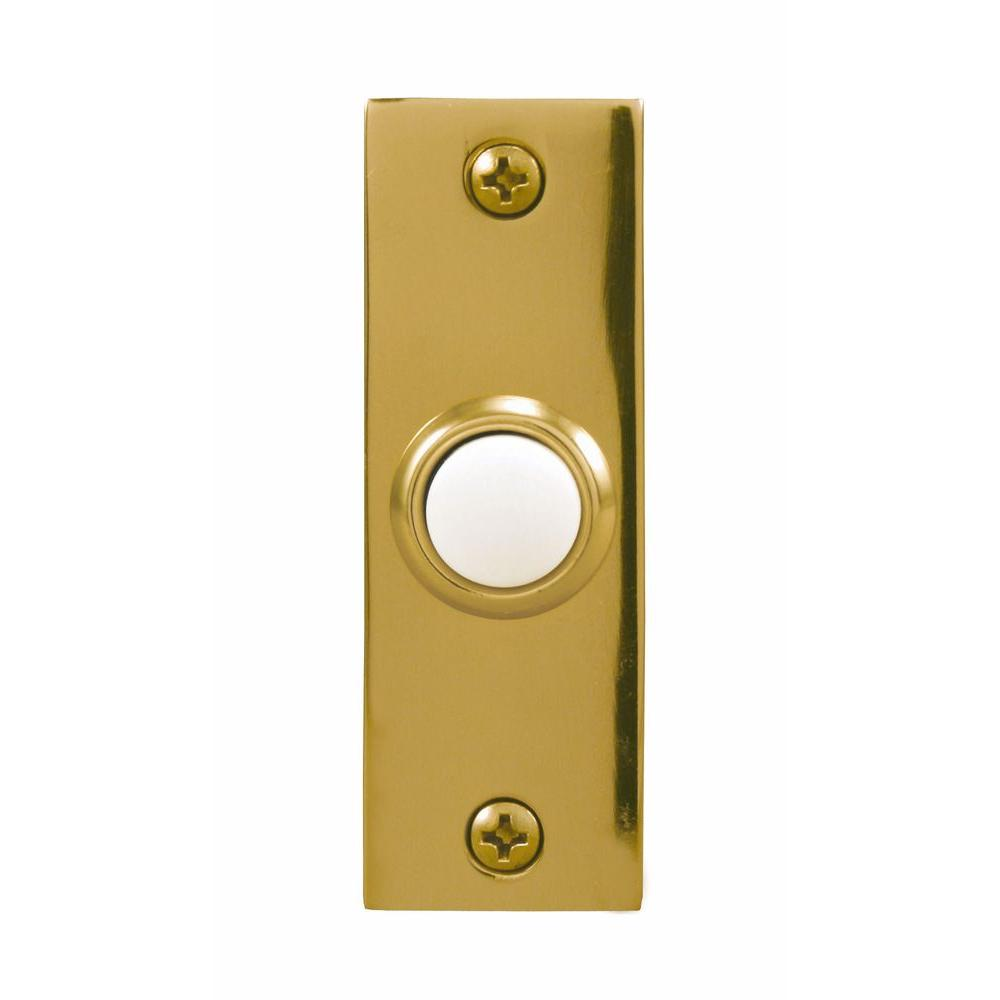 Heath Zenith Wired Halo-Lighted Polished Brass Finish Push Button-DISCONTINUED