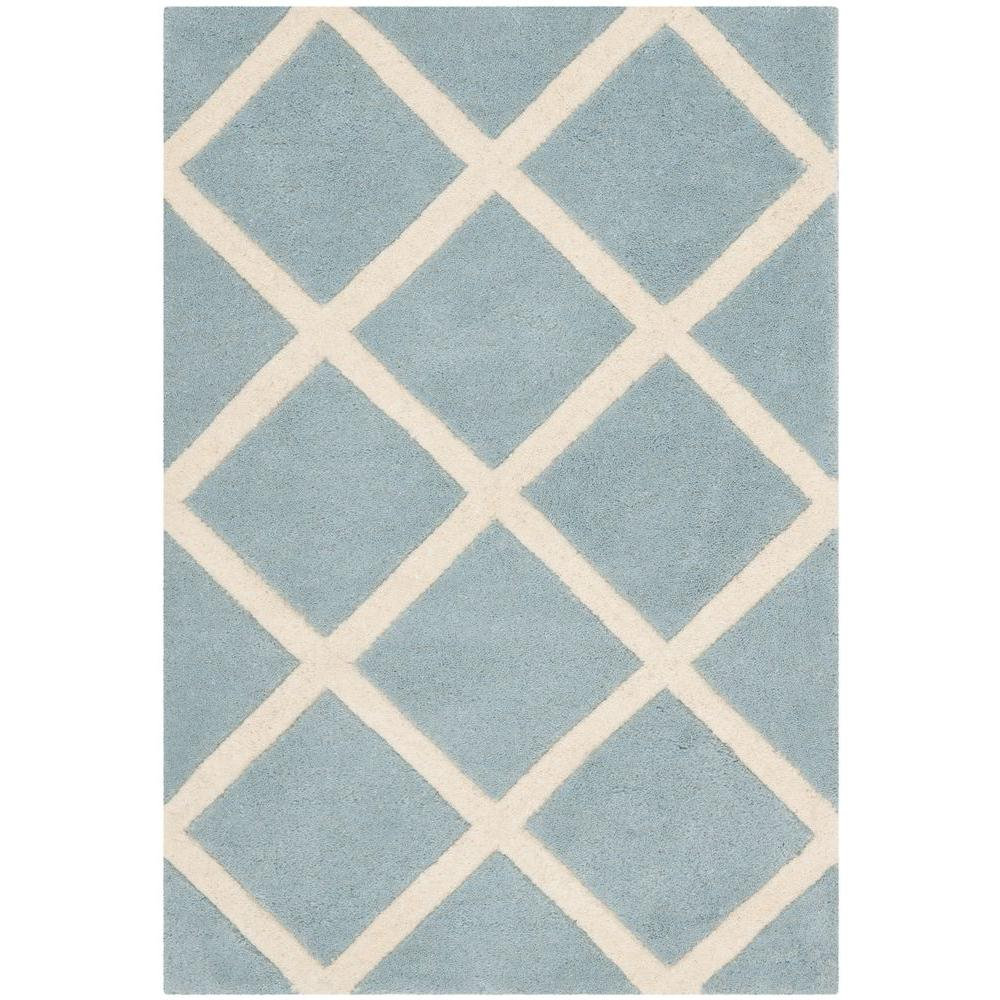 Chatham Blue/Ivory 2 ft. x 3 ft. Area Rug
