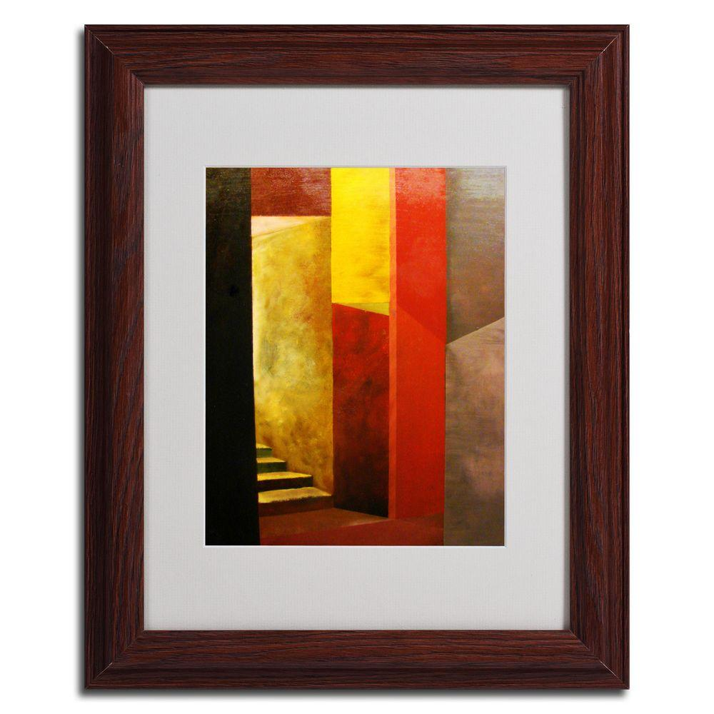 11 in. x 14 in. Mystery Stairwell Dark Wooden Framed Matted